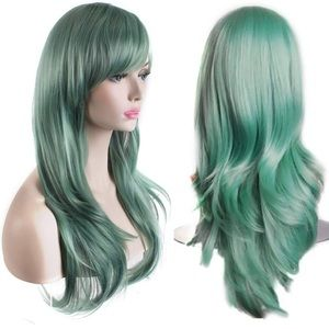 BRAND NEW green wig- WITH hair cap/net